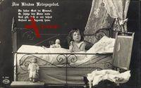Des Kindes Kriegsgebet, Kinderbett, Spielzeug, Amag K. 244