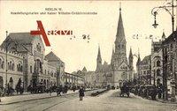 Berlin Wilmersdorf, Ausstellungshallen und Kaiser Wilhelm Gedächtniskirche