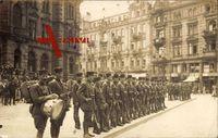 Wiesbaden, Straßenansicht, Franz. Soldaten, Trommel