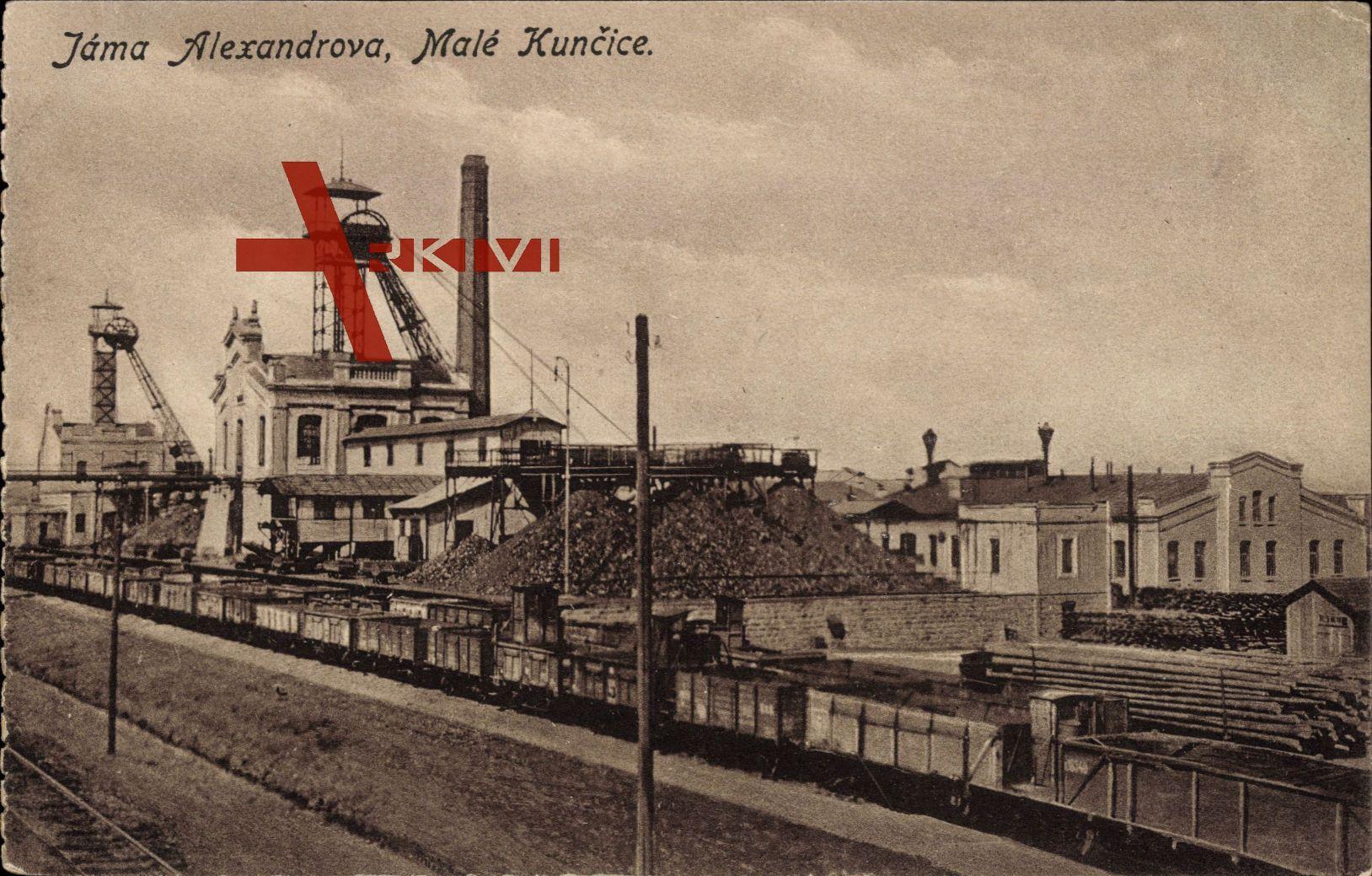 Malé Kuncice Region Königgrätz, Jáma Alexandrova, Zeche