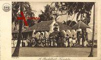Sri Lanka, Ceylon, A buddhist temple, Buddhistischer Tempel, Elefant