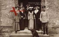Herzog Ernst August, Viktoria Luise, Thyra von Cumberland, Olga, Max v Baden