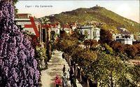 Capri Campania, Via Camerelle, Frühling, Gebäude, Berg