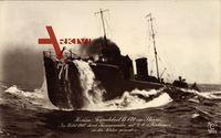 Hochseetorpedoboot G 171 im Sturm, Gesunken im Herbst 1912