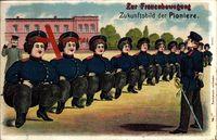 Zukunft Zur Frauenbewegung, Pioniere, Frauen als Soldaten