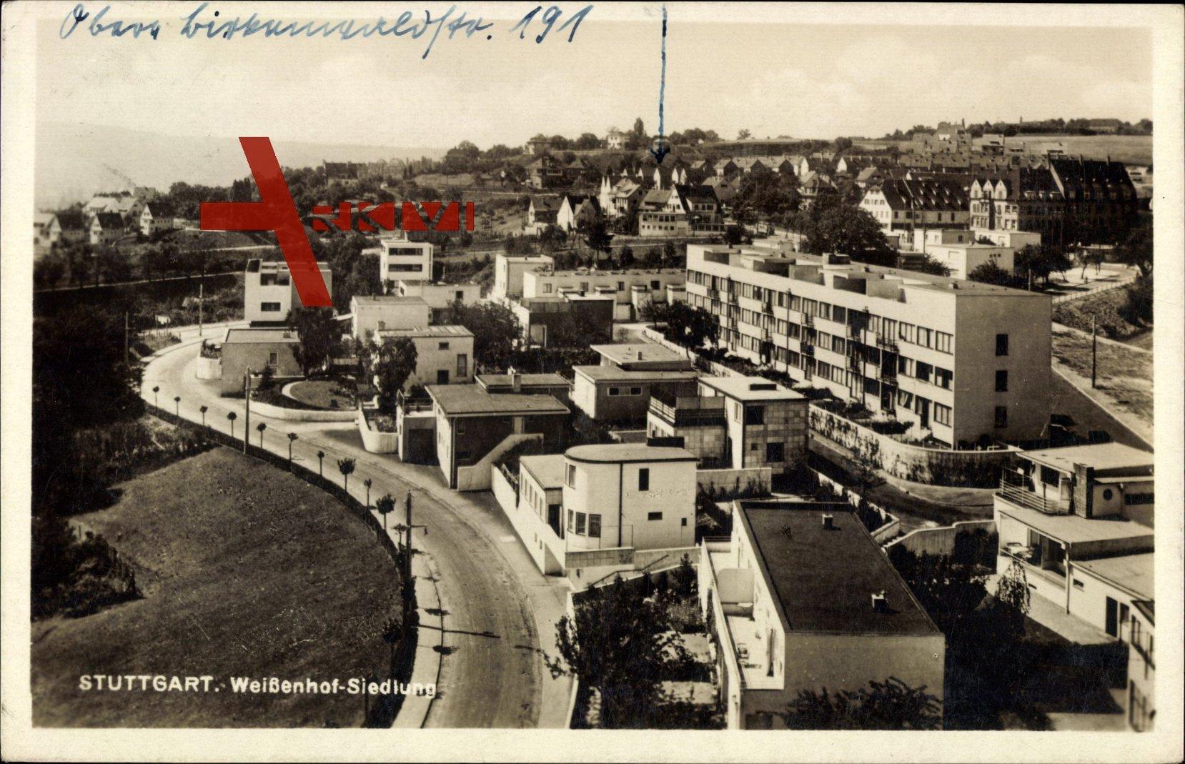 Stuttgart Baden Württemberg, Blick in die Weißenhof Siedlung, moderne Gebäude