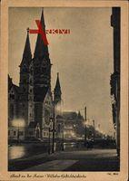 Berlin Charlottenburg, Abend an der Kaiser Wilhelm Gedächtniskirche