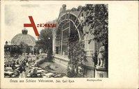 Berlin Weißensee, Terrassengarten im Schloß von Carl Koch, Musikpavillon