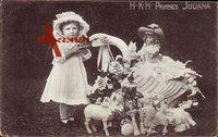 Prinzessin Juliana als Kind mit Spielzeug, Adel Niederlande