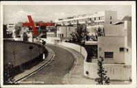 Stuttgart Weißenhofsiedlung, Blick in die Siedlung, Straßenpartie