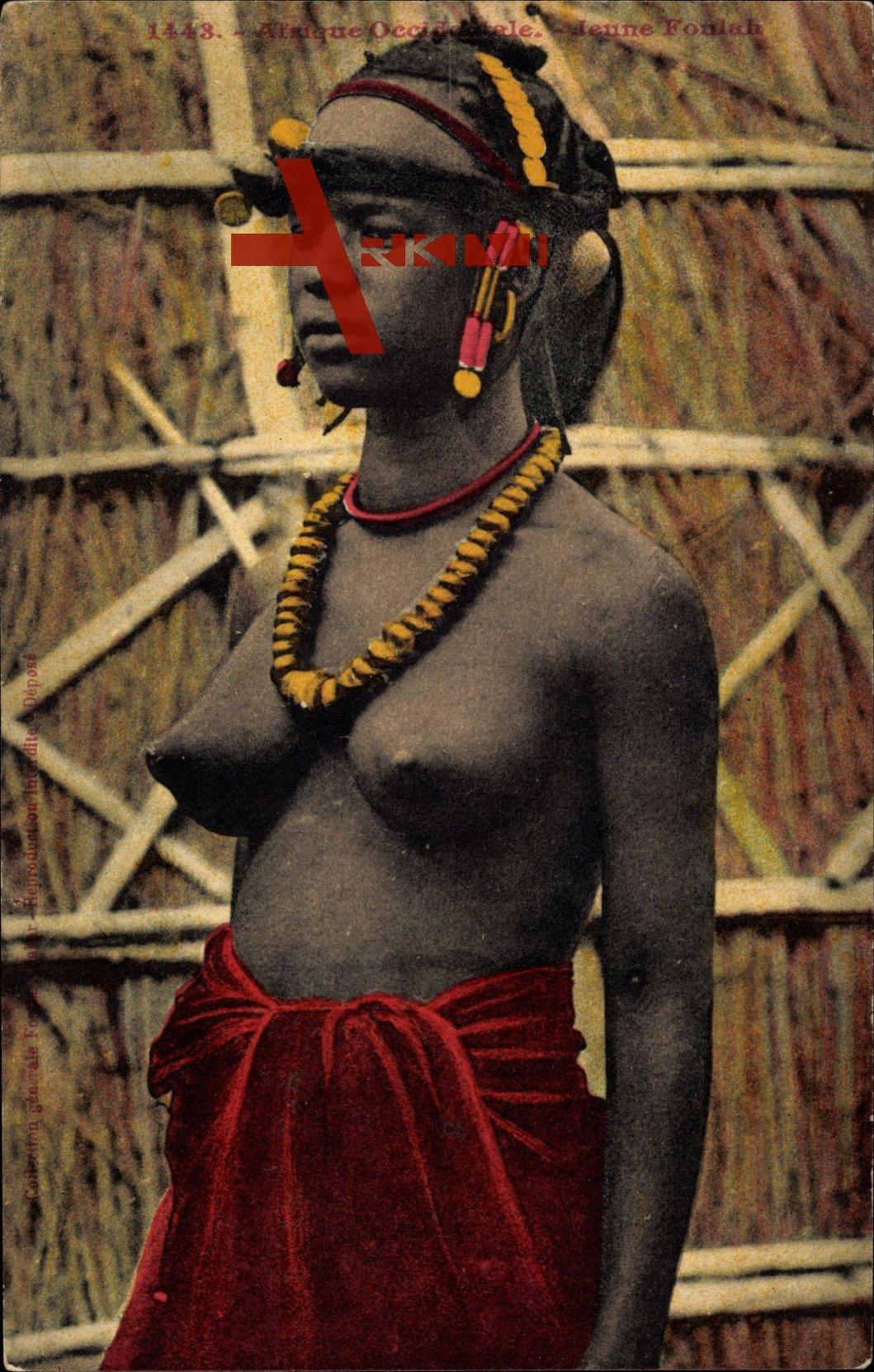 Nackte afrikanerin