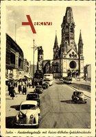 Berlin Wilmersdorf, Hardenbergstraße mit Kaiser Wilhelm Gedächtniskirche