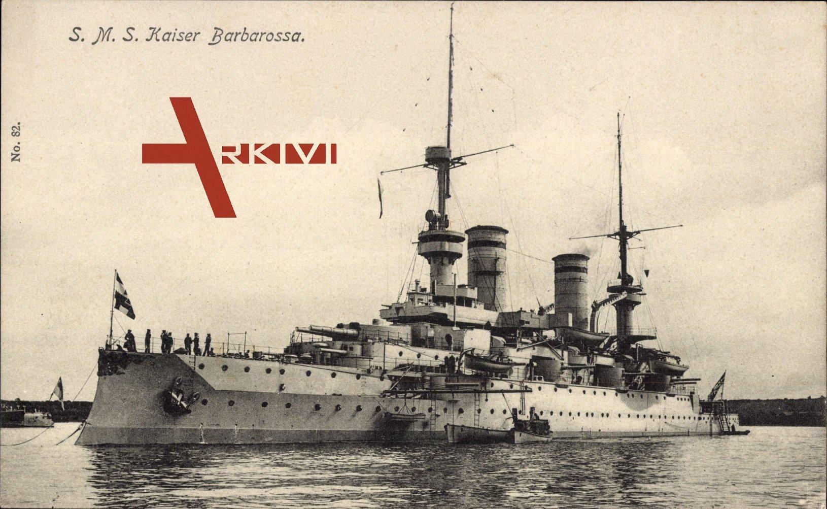 S.M.S. Kaiser Barbarossa, Deutsches Kriegsschiff, Ausbooten