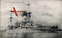 S.M.S. Kaiser Barbarossa, Deutsches Kriegsschiff, Bugansicht