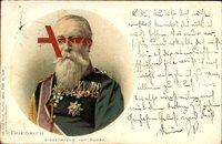Großherzog Friedrich I. von Baden, Portrait, Uniform, Orden