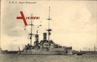 S.M.S. Kaiser Barbarossa, Deutsches Kriegsschiff, Ansicht Steuerbord