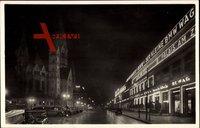 Berlin Charlottenburg, Kaiser Wilhelm Gedächtniskirche, Budapester Str.,Nacht