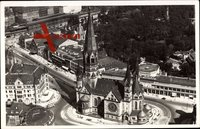 Berlin Charlottenburg, Luftbild von der Kaiser Wilhelm Gedächtniskirche