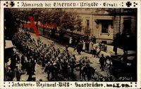 Regiment  Saarbrücken, Inf. Regt. 70, 6 Oktober 1914, Kriegsausmarsch