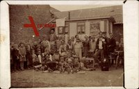 Familienfoto, Musikinstrumente, kordeons, Radio, Schlagzeug, Fahrrad