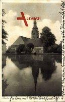 Itzehoe Schleswig Holstein, Blick vom See auf die Kirche