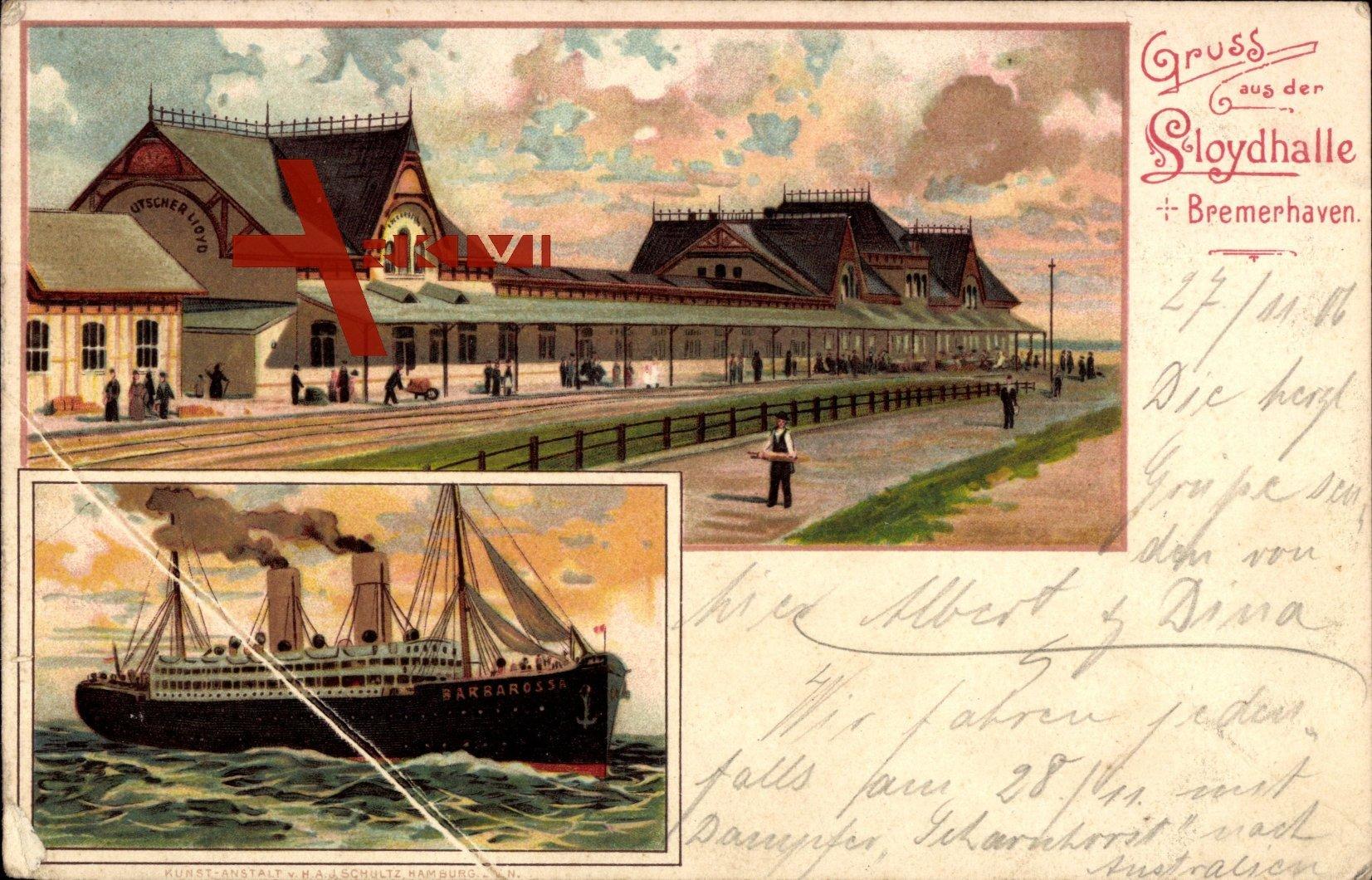 Bremerhaven, Lloydhalle, Dampfer Barbarossa