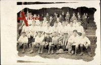 Fußballmannschaft, Gruppenfoto, Junge Männer, Lederball