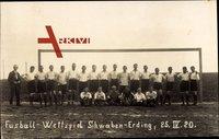 Fußball Wettspiel, Schwaben Erding, 25 IV. 1920