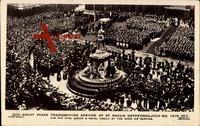 Thanksgiving Service in der St. Pauls Kathedrale im July 1919, durch H.M. King Georg V. und Queen Mary sowie die königliche Familie