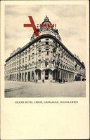 Jugoslawien Slowenien, Grand Hotel Union, Ljubljana, Außenansicht