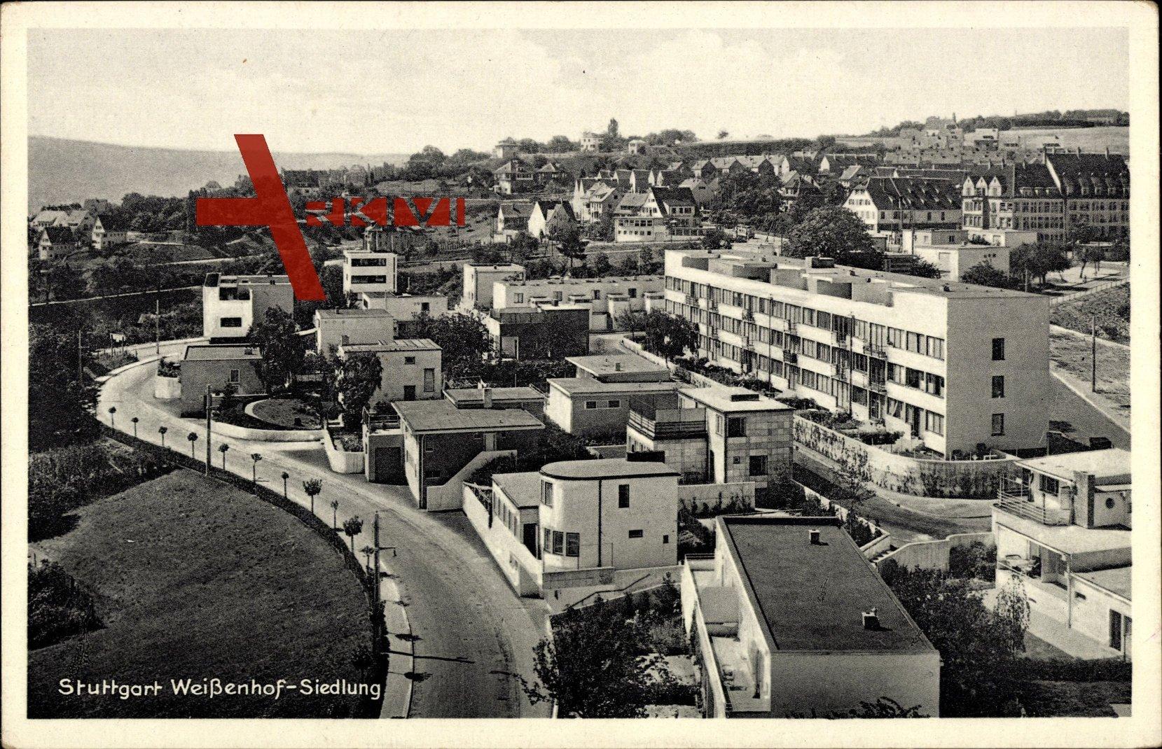 Stuttgart, Blick auf die Weißenhofsiedlung am Killesberg