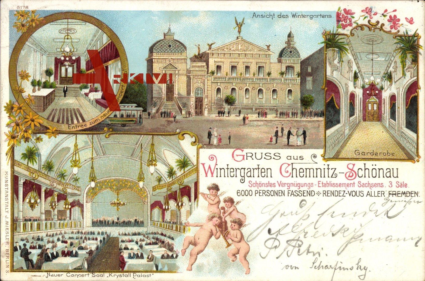Chemnitz Schönau, Wintergarten, Garderobe, Außenansicht, Engel