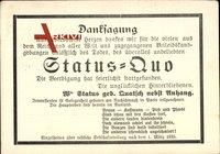 Saarabstimmung 1935, Status Quo, Danksagung, Todesanzeige