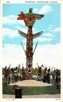 Chicago Illinois, Totem Pole, Lincoln Park, Indianer