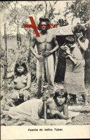Familia de Indios Tobas, Südamerika, Guaycurú Indianer