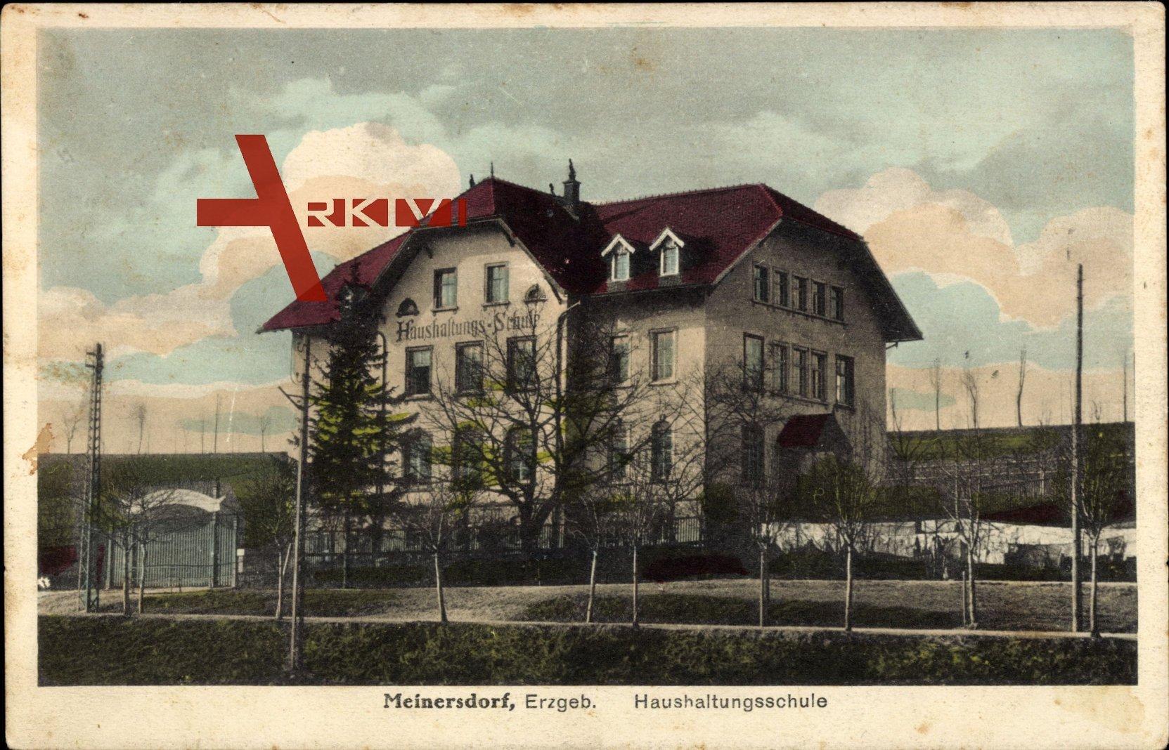 Meinersdorf Burkhardsdorf Erzgebirge, Ansicht der Haushaltungsschule