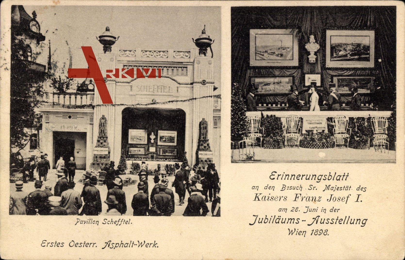 Wien, Kaiser Franz Josef I, Jubiläumsausstellung 1898, Pavillon Schefftel