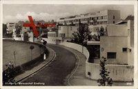 Stuttgart, Weißenhof Siedlung, Bauhaus, Straßenpartie