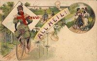 All Heil, Fahrrad, Spazierfahrt, Frauen, Frühling