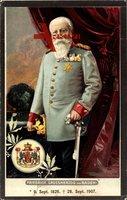 Friedrich Grossherzog von Baden mit Gehstock, Wappen