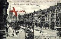 Berlin Charlottenburg, Tauentzienstraße, Kaiser Wilhelm Gedächtniskirche,Tram