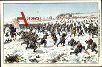 Sturm der Bayern auf Loigny, 2 Dezember 1870, Deutsch Franz. Krieg