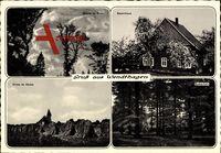 Wendthagen Stadthagen, Bauernhaus, Kirche, Herbst, Buchenhain, Bäume, Sturm