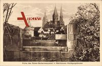 Gelnhausen Main Kinzig Kr.,Ruine des Kaiser Barbarossapalast,Huldingsfenster