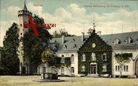 Itzehoe Kreis Steinburg, Blick auf Schloss Breitenburg mit Brunnen