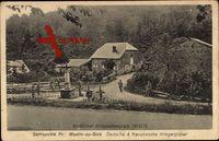 Moulin au Bois Morbihan, Serrouville Fr, Dt. und Franz. Kriegergräber