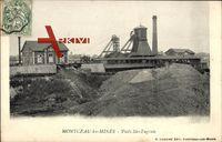 Montceau les Mines in Saône et Loire, Schacht Ste. Eugénie um 1903