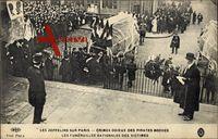 Paris, Zeppelin, Crimes odieux des pirates boches, Funérailles des victimes