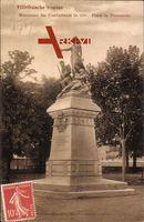 Villefranche sur Saône Rhône, Monument des Combattants de 1870, Promenoir