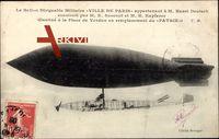 Le Ballon Dirigeable Militaire Ville de Paris, M. Henri Deutsch, Zeppelin